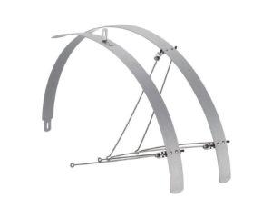 Paio parafanghi Piatti in alluminio Silver opachi | Cicli Martin