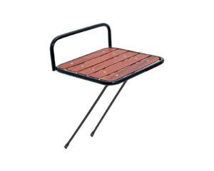 Portapacco Messenger anteriore in acciaio con base in legno nero | Cicli Martin