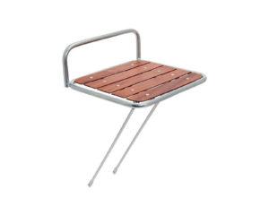 Portapacco Messenger anteriore in acciaio con base in legno silver | Cicli Martin